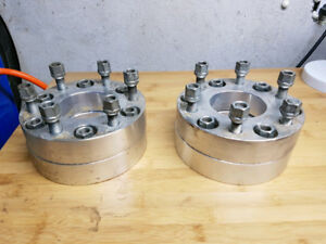 Chevy GMC wheel spacers six bolt