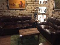 Genuine leather 2 & 3 seater sofas