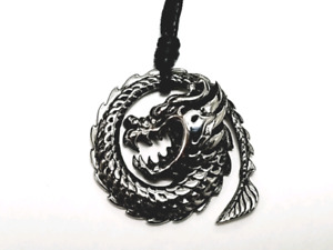 Silver stainless steel dragon pendant