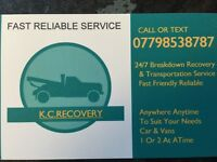 24/7 car recovery and transportation