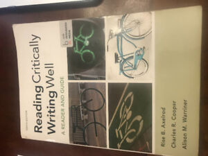 Reading Critically, Writing Well 10th Edition - USED paperback