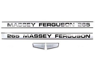 Bonnet Decal Set For Massey Ferguson 265 Tractors