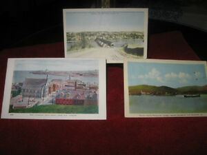 THREE OLD VINTAGE MARITIME PROVINCE PICTURE POST CARDS