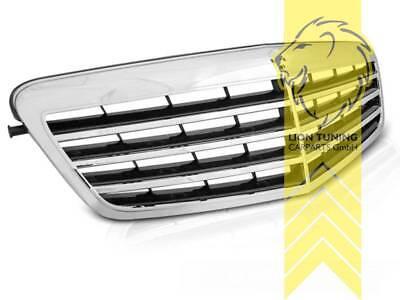 Sportgrill Kühlergrill für Mercedes Benz W212 E-Klasse schwarz chrom