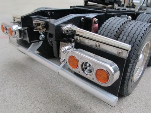 New Custom Rear Bumper Guard Tamiya 1/14 Semi Man TGX Ford Aeromax Knight Hauler