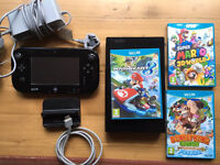 Wii U WiiU - 32GB Black - 4 Games