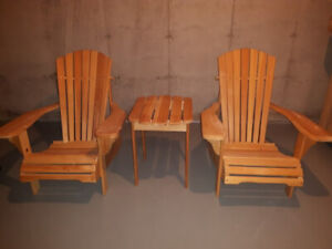 2 Adirondack Chairs & Side Table