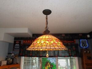 Stained glass dining light fixture