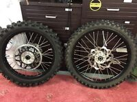 2011 Crf 250 - 450 off road wheels complete 2005 to 2013