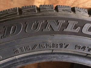 Pneus d' Dunlop 215/55R17