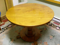 TABLE (SOLID WOOD) AND 4 CHAIRS (PART of ESTATE)