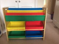 Kids bookshelf toy storage unit