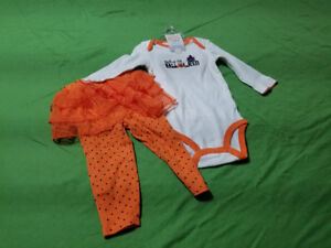 Infant girl first Halloween outfit, 12 months.