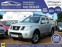GUARANTEED CAR FINANCE Nissan Navara 4x4 2.5dCi Truck - Choice of Navara's