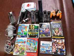 Wii  Game Console, Games and Extras