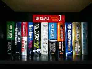 12 Hard cover Tom Clancy Books