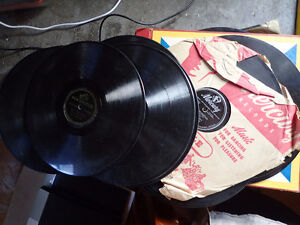 two century old gramophones Columbia and Victor Victrola