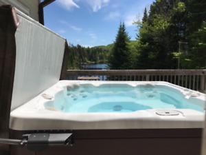 A louer Chalet bord de lac avec spa foyer et terrasse