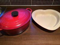 Le creuset casserole set RRP new over £200