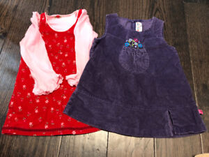 Red Dress Set + Purple Dress Sz 18M