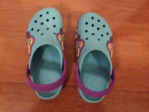 Kids Crocband lightup Butterfly Crocs - Juniors size 3 West Island Greater Montréal image 1
