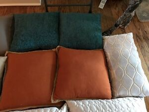 Down throw pillows!
