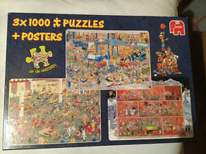 JAN VAN HAASTEREN BOX OF 3-1000 PIECES PUZZLES(CASSE-TETE) West Island Greater Montréal image 1