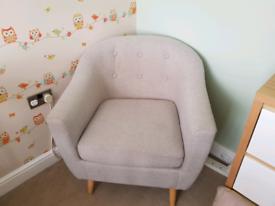 Light Grey Arm Chair