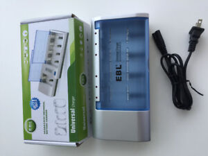 EBL Battery Charger AA AAA C D 9V Ni-MH Rechargeable Batteries