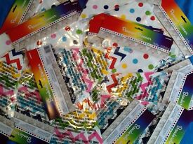 Rainbow and chevron bunting 12 ft (3.65m) each pack