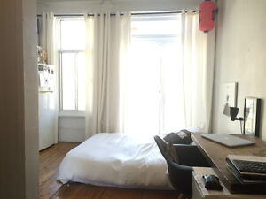 STUDIO FOR RENT! -- little italy / mile end - Saint Laurent Boul