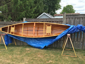 Firm! CEDAR stripped canoe INCLUDES ORIG. BUILDING FORMS!
