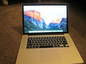 "Apple laptop Macbook Pro 15.4"" Screen Retina Display"