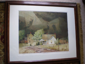 """Initialed A. J. Casson-""""Sun After Thunder"""" Artists Proof"""