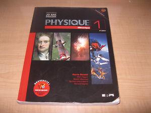 Physique 1 - Mécanique - Benson 4e édition