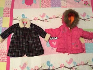 Girls jacket 1 pea coat and the other fall size 12 months