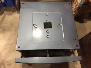 Blue pedestal storage for washer or dryer