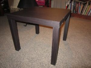Wooden Chocolate Colored End Table For Sale