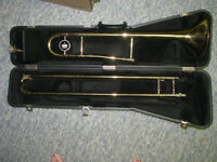 King Trombone with case and mouth piece