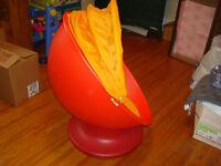 Children's Orange Ikea Swivel Chair