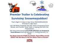 ONLY ONE MORE WEEK!SNOW-MAGGEDON SALES ON SNOW BLOWERS!