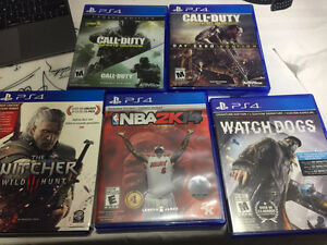A few PS4 games for sale