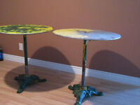 2 (a pair) of METAL TABLES