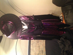 Purple and black shiny witch costume!!