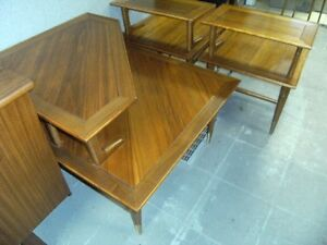 WALNUT COFFEE TABLE & END TABLE SET BY LANE Peterborough Peterborough Area image 3