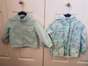 Columbia girls 2T 3in1 jacket