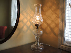 Beautiful Waterford Vintage Crystal Lamps + Bohemia Crystal Vase