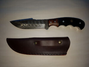 Professionally Hand Made Damascus Style Fixed Blade Knife