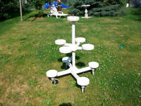9 POT MOBILE PLANT STAND