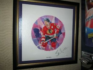 Stan Mikita Autographed Canvas By Canada Post - Framed